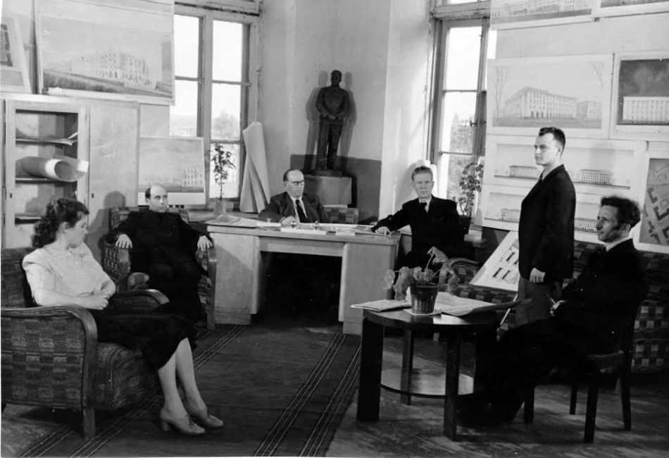 Обсуждение проекта Тарлера в Союзе архитекторов. 1950 год