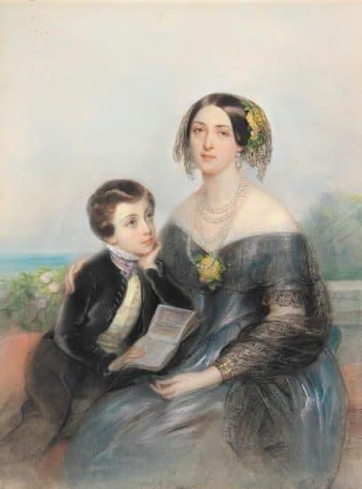 Аврора Карловна Шернваль с сыном Павлом