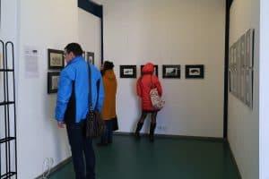 В медиа-центре «Vыход»  открылась выставка графики Евгения Фролова «Чёрным по белому»