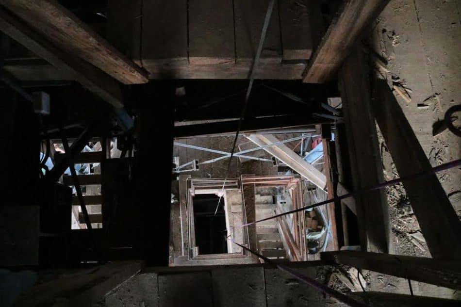 Внутри Преображенской церкви