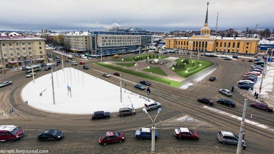 Проект благоустройства площади Гагарина Александра Кима и Алексея Скрипицына