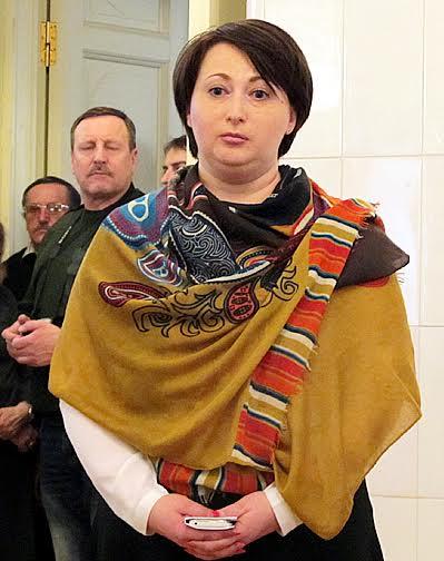 Варвара Лебедева на вернисаже