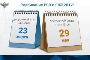 Утверждено расписание ЕГЭ-2017