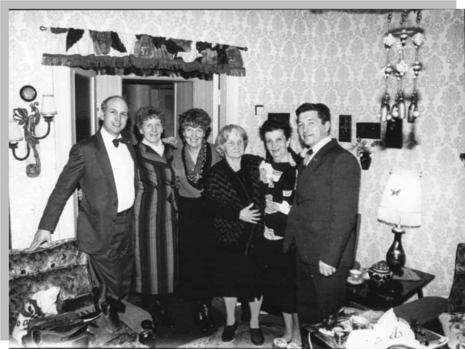 В гостях у певицы Сиркки Рикка (вторая справа). Ноябрь 1987 года