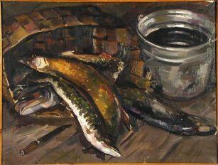 Валентина Авдышева. Натюрморт с рыбой