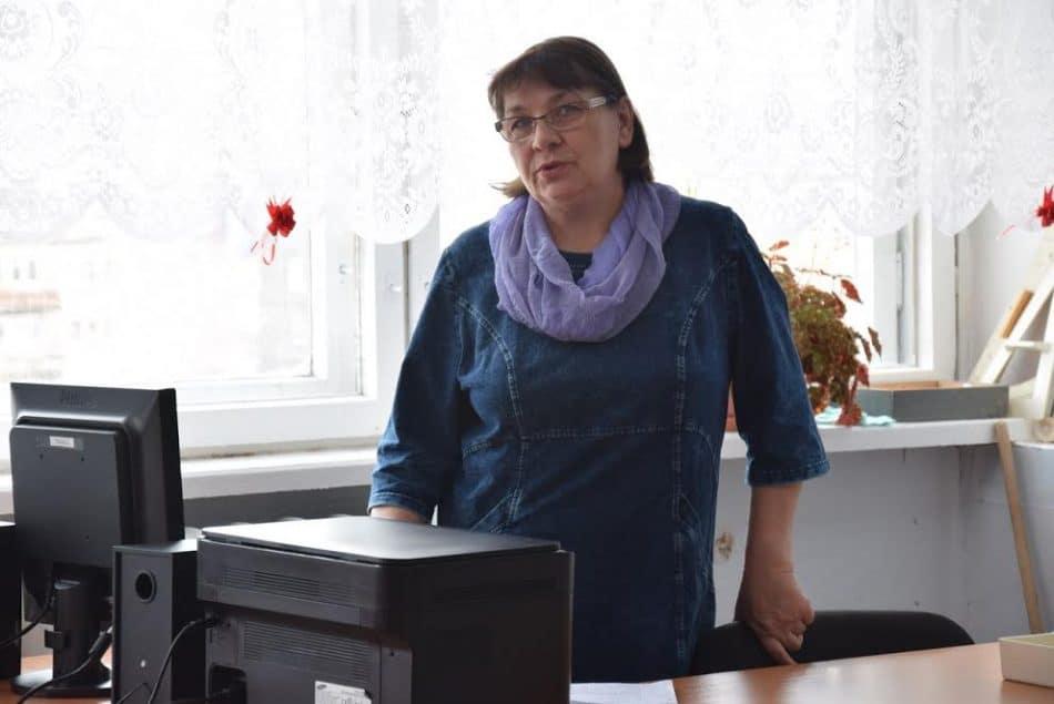 Выступает учитель биологии школы №20 Наталья Калинина