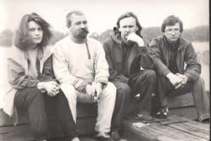 Яна Жемойтелите, Григорий Салтуп, Аркадий Морозов и неизвестный. 1987 год