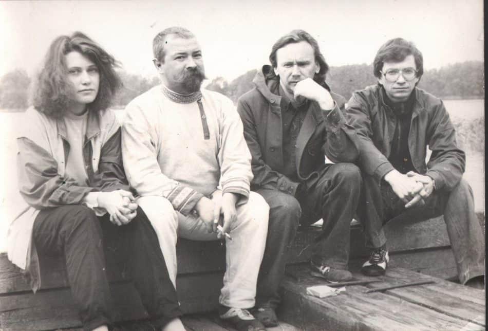 Яна Жемойтелите, Григорий Салтуп, Аркадий Морозов и Сергей Шапошник. 1987 год