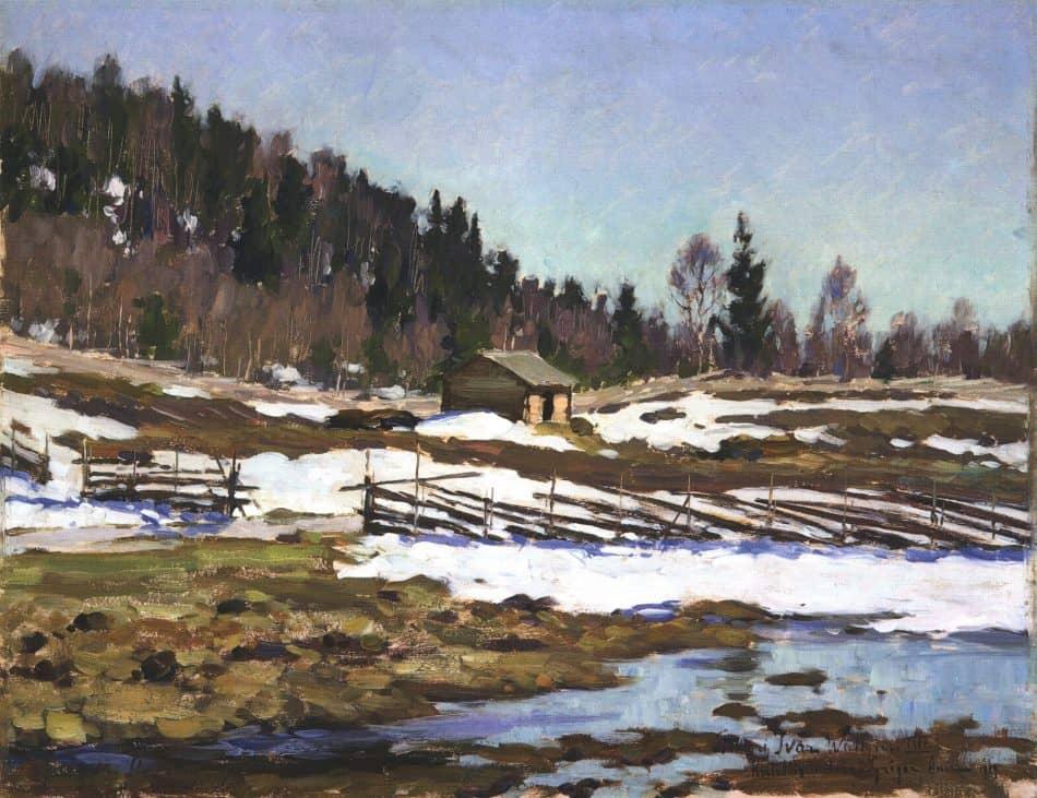 Весенний пейзаж в Импилахти. 1918 год
