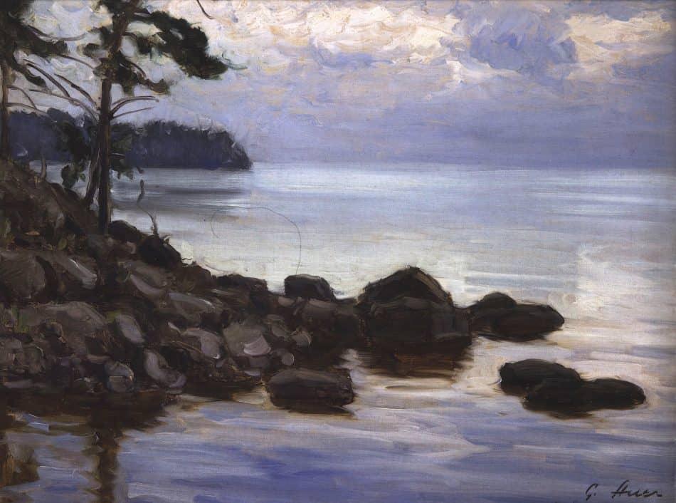 Григор Ауэр. Берег Ладоги на Валааме. 1932 год