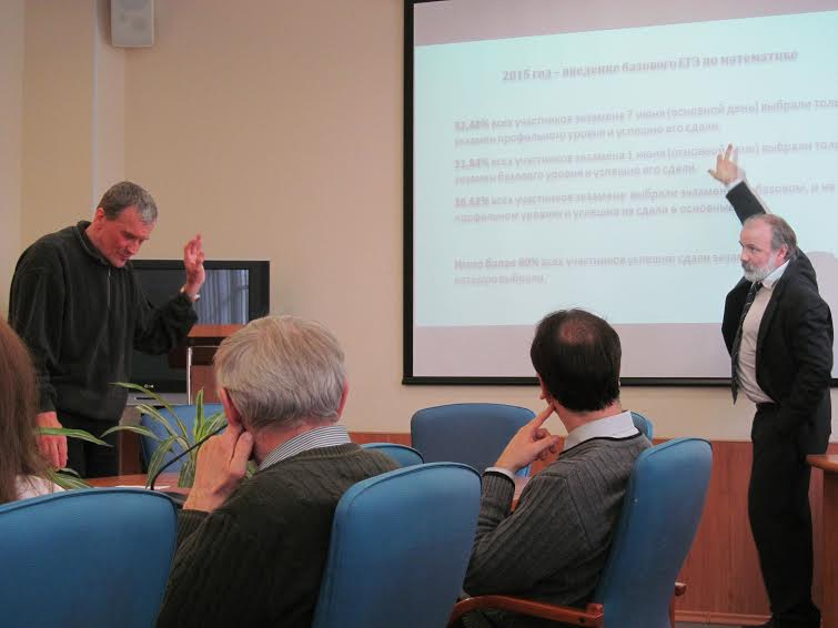 Дискутируют Александр Иванов и Иван Ященко (справа). Фото Марии Дмитриевой