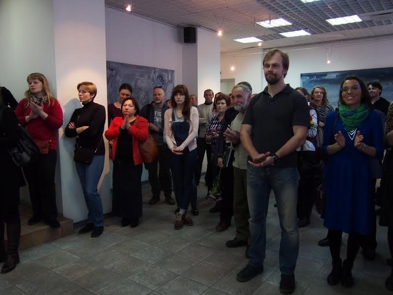 На вернисаже в ГВЗ. Фото Ирины Ларионовой