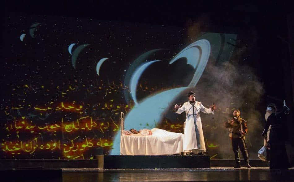 Сцена из спектакля. Эбн-Хакиа – Дмитрий Танеев