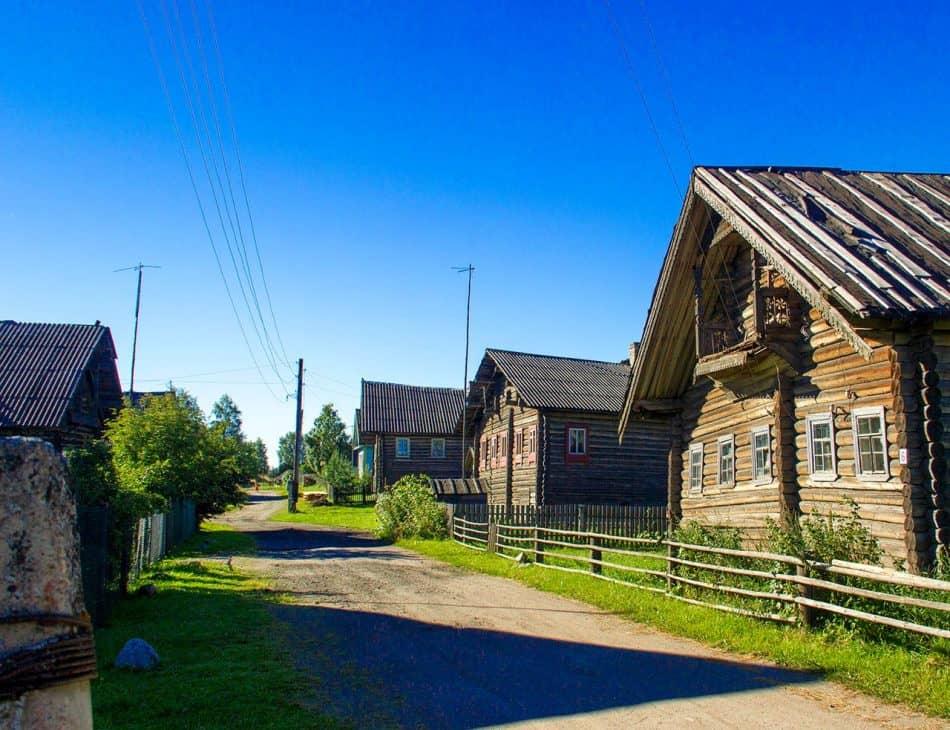 Старинная карельская деревня Корза