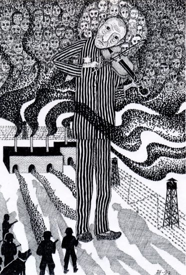 Из иллюстраций к книге Марка Полыковского «Отравлен я еврейской кровью»