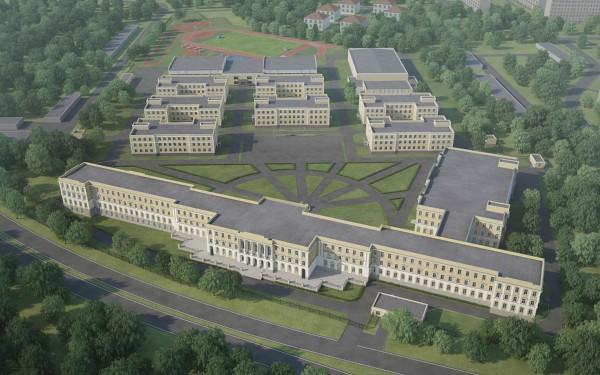 Президентское кадетское училище расположено на Комсомольском проспекте. Оно рассчитано на 840 юношей
