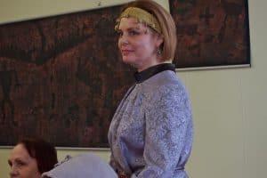 Светлана Георгиевская на вернисаже