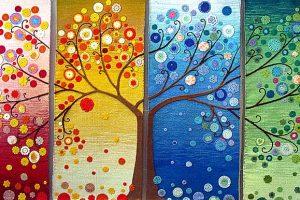 Это панно символизирует знаменитое вепсское Древо жизни. (Коллективная работа)