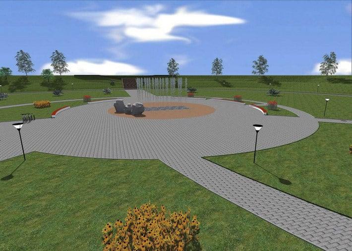"""Проект гейзерного фонтана в парке """"Ямка"""""""
