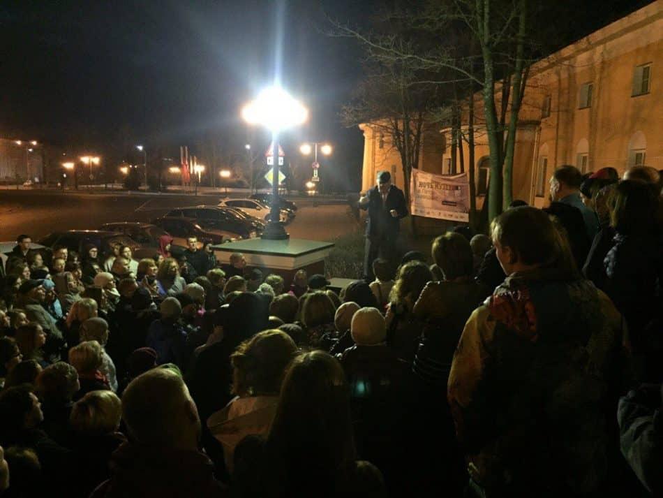 Ночная лекция Михаила Гольденберга. Фото НМ РК