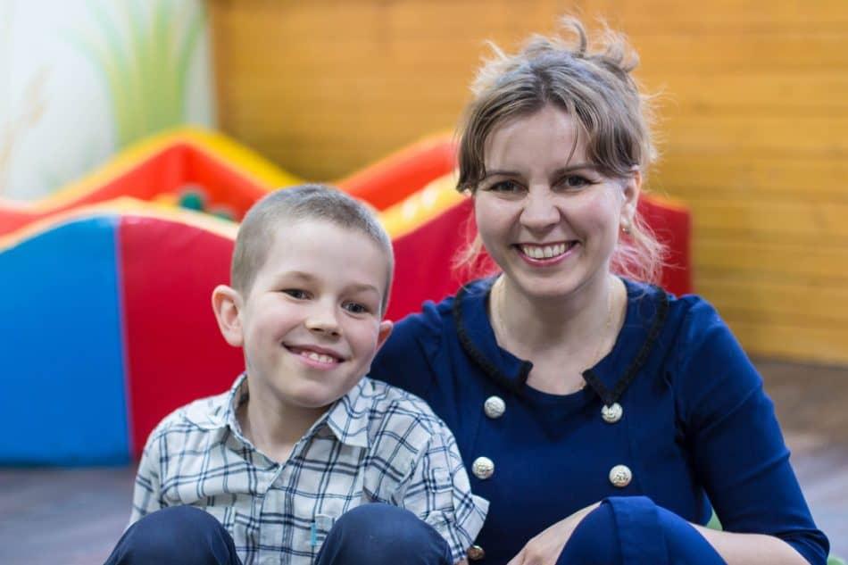 Наталья Никулина и ее сын Стёпа