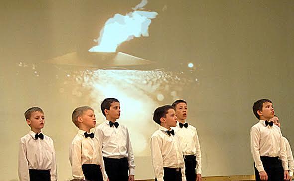Участники хора мальчиков Центра мужского хорового пения