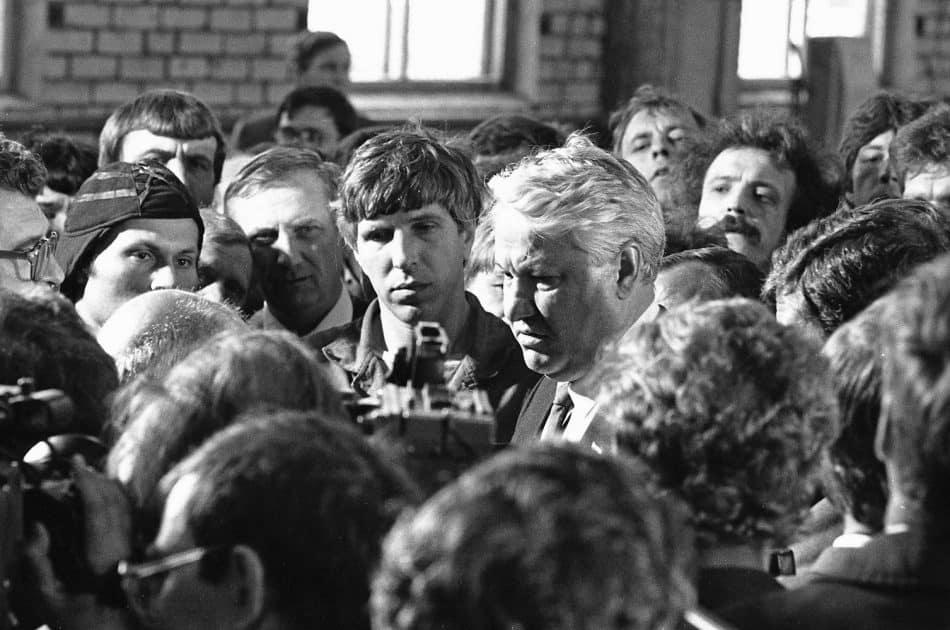 Борис Ельцин в Карелии.