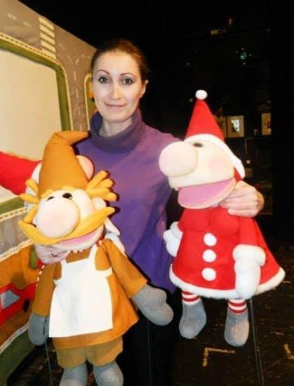 На мастер-классе по кукловождению
