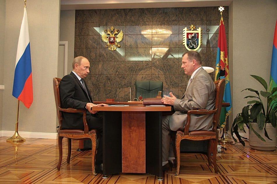 Сергей Катанандов и Владимир Путин. 2009 год