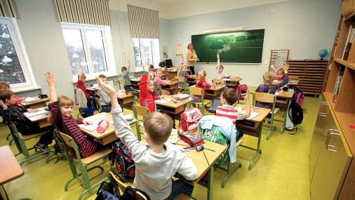 В финской школе. Фото: Sille Annuk