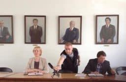 Ирина Мирошник на пресс-конференции 29 июня