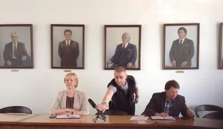 Ирина Мирошник на пресс-конференции 29 июня. Фото Натальи Мешковой