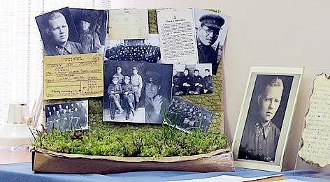 Часть экспозиции, подготовленной архивистами к круглому столу
