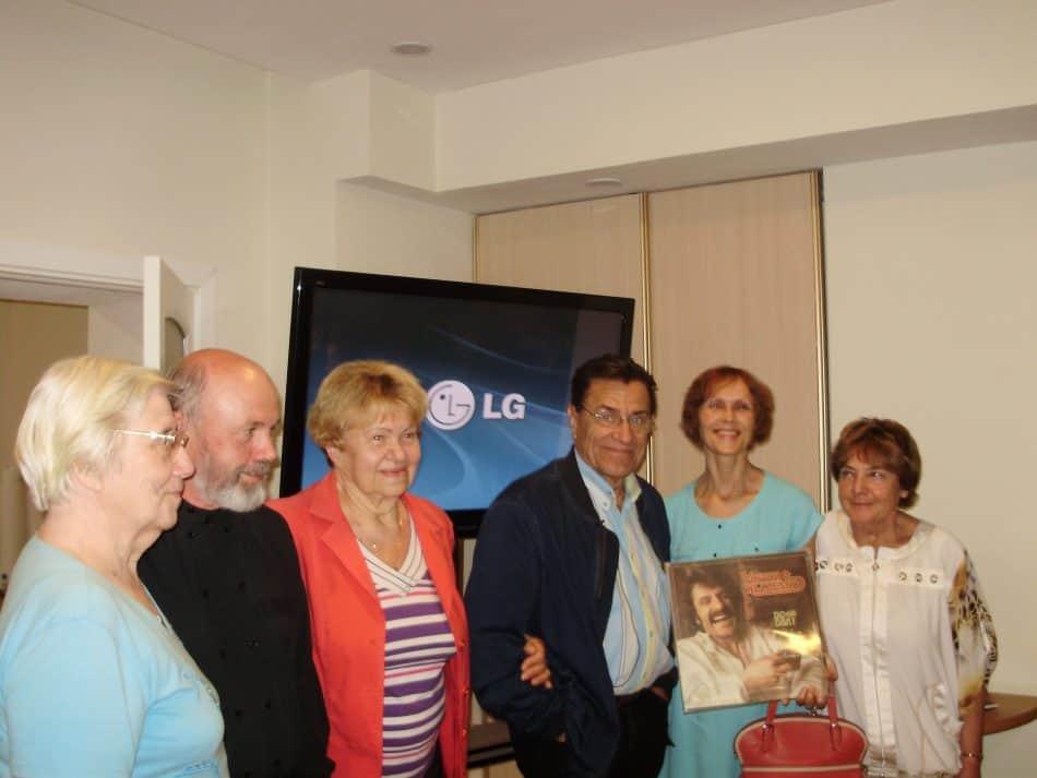 Виктор Клименко с гостями музыкального салона Вячеслава Агапитова. 25 июля 2017 года
