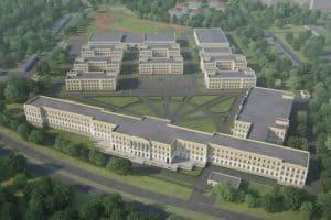 Так должно выглядеть после окончания строительства Президентское кадетское училище в Петрозаводске