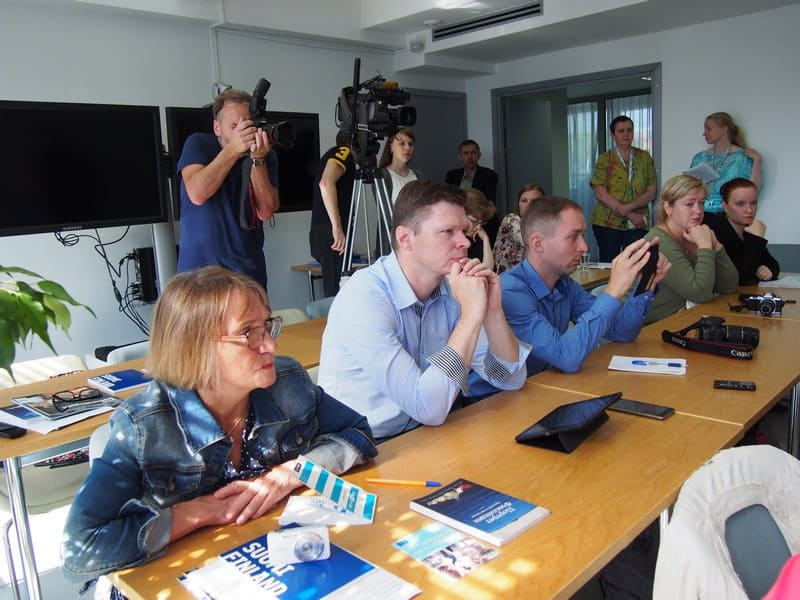 На пресс-конференции Тарво Ниеминена. Фото Ирины Ларионовой