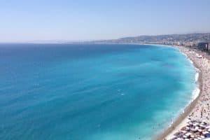 Вид на Залив Ангелов в Ницце. Фото Александры Озолиной