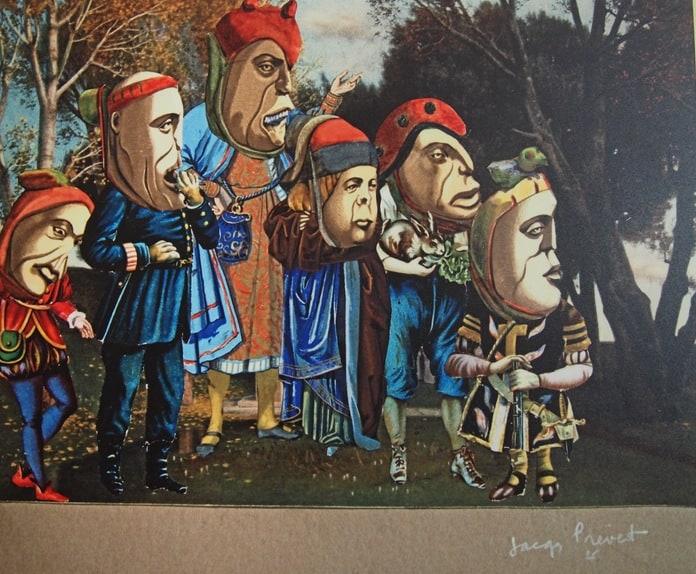 Высшее общество. В Национальной библиотеке Карелии открыта выставка коллажей знаменитого француза Жака Превера