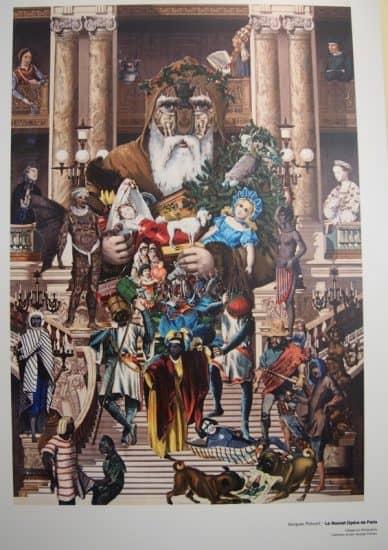 Новая парижская опера. В Национальной библиотеке Карелии открыта выставка коллажей знаменитого француза Жака Превера
