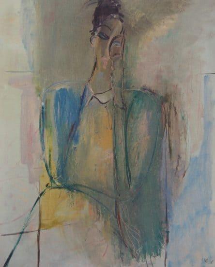 Юрий Честников. Дама в голубом.