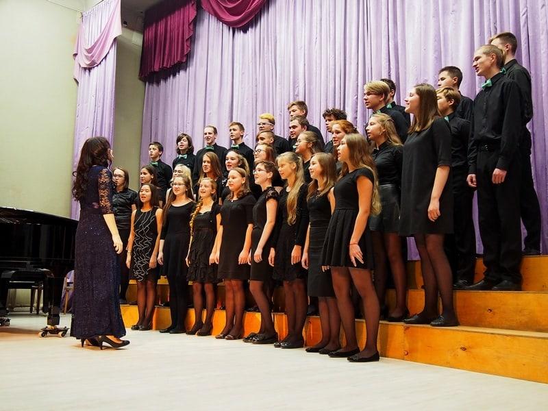 """В финале сводный хор """"Лаулу"""" и """"Виват"""" исполнили композицию Леонарда Коэна """"Аллилуйя"""""""