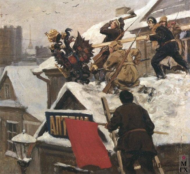 Иван Алексеевич Владимиров. Революция (зарисовки из альбома). 1917-1918