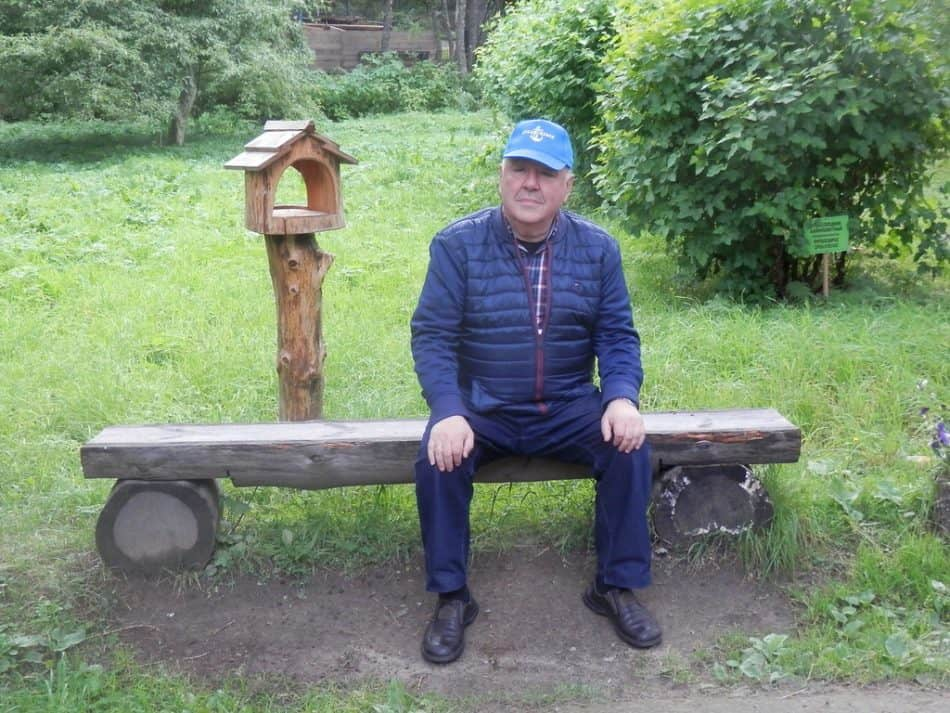 Михаил Гольденберг в Соловецком ботаническом саду