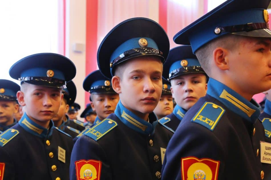 В Петрозаводске открылось президентское кадетское училище. Фото Владимира Ларионова