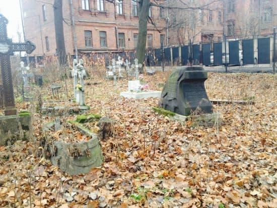 ноябрь 2014 Волковское кладбище, захоронение Майеров