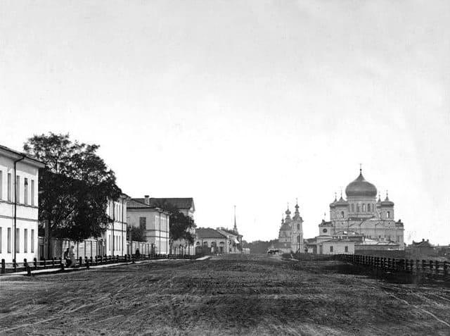 Петрозаводск в конце XIX века. С фотографии Я. Пекарского