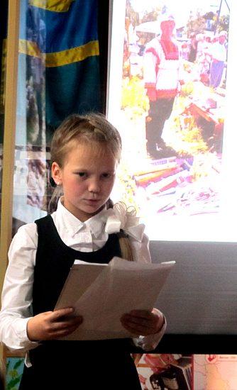 С темой «Рюрик Петрович Лонин как хранитель семейного очага» выступила его правнучка юная Каролина Лонина