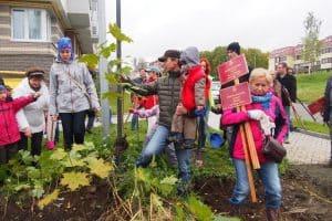 В Петрозаводске посадили фамильные деревья