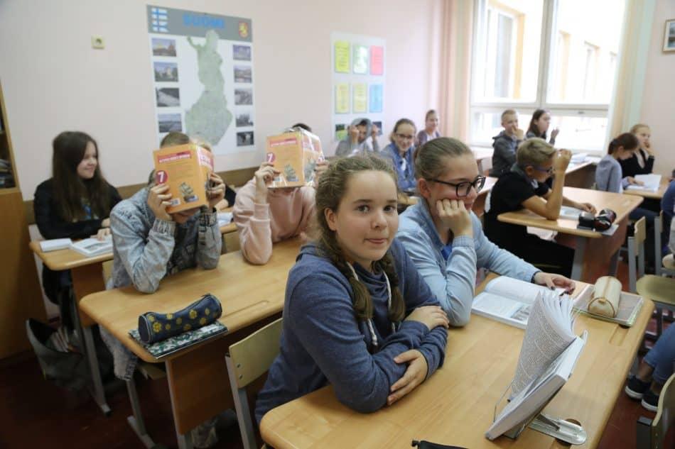 Петрозаводск. Финно-угорская школа имени Элиаса Лённрота. Фото Владимира Ларионова
