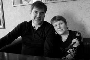 Валерий Железняков с женой